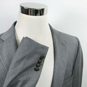 Paul Frederick Mens 48XL Blazer 100% Wool Gray